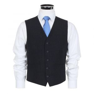 SCOTT MENS WOOL BLEND FORMAL WAISTCOAT IN CHARCOAL SIZE IN 34 TO 60