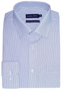 Double Two Pure Cotton Easy Care Cut Away Collar Striped Mens Formal Shirt (3645)
