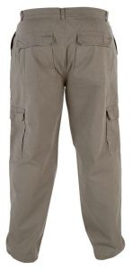 "DUKE LONDON RELAXED FIT PURE COTTON 6 POCKET COMBAT/CARGO TROUSER IN SAND WAIST SIZE 42 TO 60"" & INSIDELEG 30/32/34"""