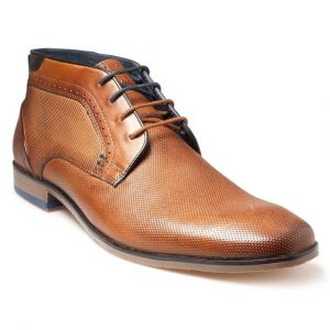 Pod Mens Lace up shoe (Kentucky) in Cognac