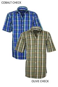 Henderson Cotton Rich Short Sleeve Check Shirts(3362), S to XXL, 2 options