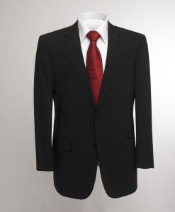 SKOPES MENS OSLO WOOL RICH BLACK STRIPE SUIT JACKET IN CHEST SIZE 34 TO 62