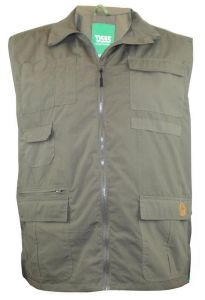 D555 MENS MULTI POCKETS HUNTING WAISTCOAT (JAKE) IN SIZE 1XL TO 8XL, 2 COLOR OPTIONS