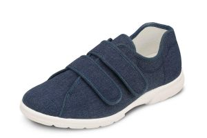 Men'S Canvas / Summer Shoes (Harris)6V Wide Fit in Navy by DB Shoes in Navy