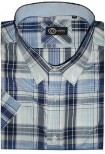 CARABOU COTTON BLEND SHORT SLEEVED WESTERN CHECK (08) IN SIZE SMALL TO XXL
