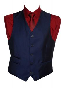 Voeut Mens formal Slim Fit Tonic Blue Waist Coat (Ford)  Size in 34 to 52,S/R/L