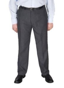 Dura Press Mens Poly Viscose Formal Trousers in Charcoal in Size 32W x 29L to 62W x 29L