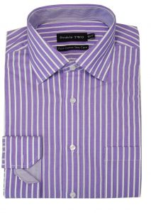 "DOUBLE TWO MENS PURE COTTON EASY CARE LS FORMAL SHIRT (3580) IN COLLAR SIZE 15 TO 17.5"", 3 COLOR OPTIONS"