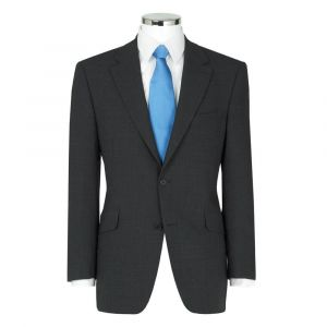 SCOTT MENS WOOL BLEND SINGLE BREASTED CHARCOAL SUIT JACKET IN CHEST SIZE 36 TO 60