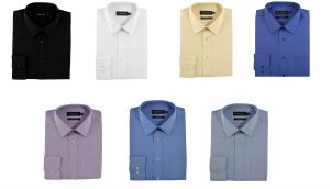Double Two Mens Extra Tall Plain Formal Shirts