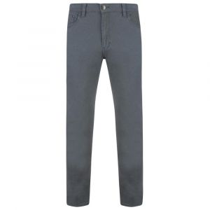 KAM K-Alba Slim Fit Stretch Chino Trousers in Grey