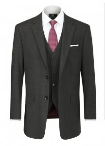 SKOPES Mens Wool Blend Darwin Charcoal Suit Jacket in Size From 34 To 62, S/R/L
