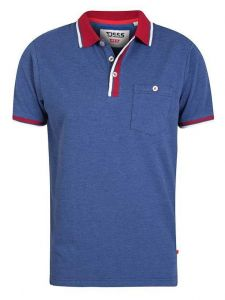 NIGEL-D555 Pique Polo With Contrast Collar & Chest Pocket