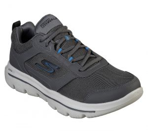 SKECHERS Men's GoWalk Evolution Ultra-Enhance Casual Shoes/Trainers in Charcoal/Blue