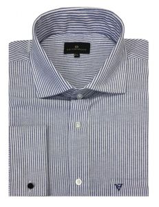 Cotton Valley Cotton Rich Oxford Blue Striped Shirt (15638) in Size 2XL to 6XL