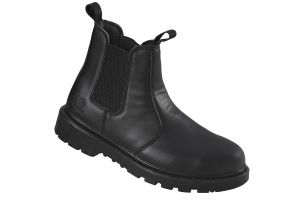 TOMCAT Mens Oregon Dealer Safety Boots with Steel Toe Cap and Midsole in Black