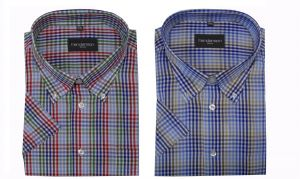 Henderson Cotton Rich Check Short Sleeve Shirt (3557) in Size 2XL to 5XL, 2 Colors Option