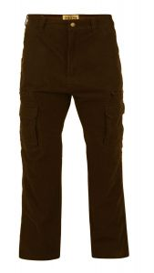 KAM MENS EXTRA TALL RELAXED FIT CARGO/COMBAT PANTS IN KHAKI (118)