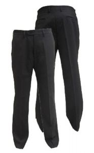 Men's Extra Tall Formal Black Trousers in Waist Size 32 to 48 inches, L33-36
