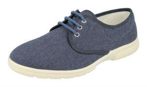 Men'S Canvas / Summer Shoes (Troon)6V Wide Fit By Db Shoes in Denim Blue