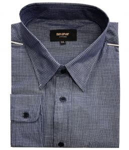 Metaphor Mens Poly Cotton Checked Long Sleeved Casual Shirt (15653), Size 2XL-8XL