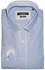 CASA MODA EXTRA TALL CUTAWAY COLLAR SHIRTS WITH CONTRAST COLLAR & CUFFS (NAVY) IN SIZE XST TO 3XLT