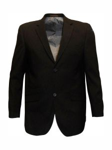 """VOEUT MENS FORMAL SINGLE BREASTED SUIT JACKET (CRUZ) IN BLACK CHEST SIZE IN 36 TO 64"""", SHORT AND REGULAR"""