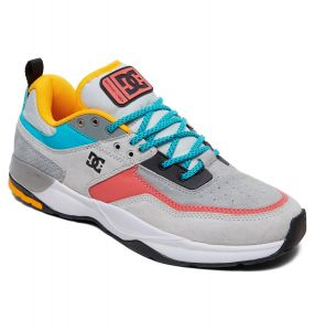 DC Shoes Mens E.Tribeka Shoes In Grey/Grey/Blue