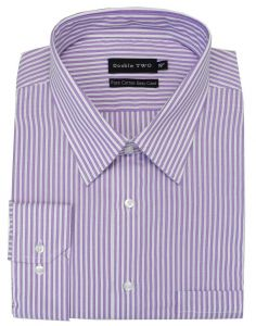"DOUBLE TWO PURE COTTON EASY CARE LONG SLEEVED FORMAL SHIRT (3578) IN COLLAR SIZE 15 TO 23"", 3 COLOR OPTIONS"