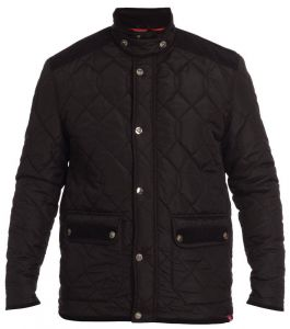 D555 MENS QUILTED JACKET WITH CORD ELBOW PATCHES, POCKET FLAPS & BACK YOLK, SIZE M-XXL