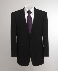 SKOPES EXTRA TALL WOOL RICH SINGLE BREASTED PLAIN BLACK SUIT JACKET IN CHEST SIZE 40 TO 52 XL