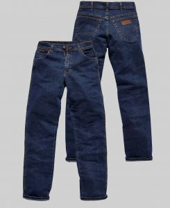 """WRANGLER MENS TEXAS STRETCH MID STONE WASHED BLUE JEANS IN WAIST 30 TO 48"""" & INSIDELEG 30/32/34"""
