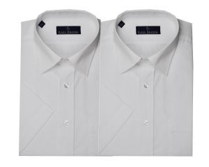Rael Brook Mens Formal Short Sleeved Multi Pack Shirts in White