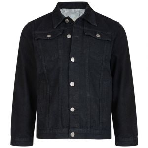 KAM Men's High Quality Western Denim Jacket (401) Black in Size Small to 8XL