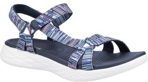 Skechers On The Go 600 Electric Touch Fastening Sandal Ladies Summer in Navy/Multi