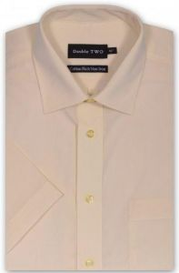 Double Two Short Sleeved Non Iron Cotton Rich Shirts (4500) Collar Size 14.5 to 18 Inches, Winter Colors