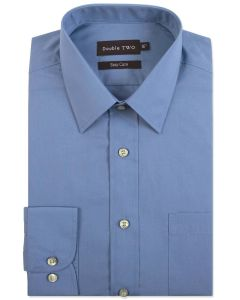 Double Two Mens Classic Fit Cotton Blend LS Shirt (3300) , Multiple Color Options