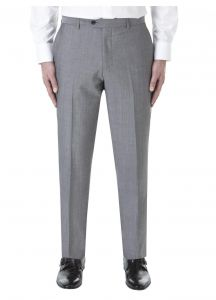 SKOPES Mens Wool Blend Tailored Fit Suit Trouser (Egan) in Light Grey in Waist Size 30 to 60, S/R/L
