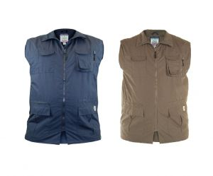 D555 Multipocket Hunting Waistcoat/Gilet (Enzo) Size in 1XL to 8XL, 2 Options