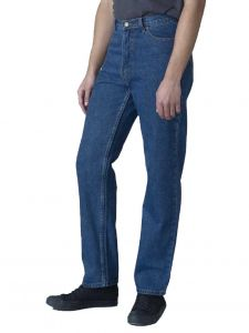 Men's Comfort Fit Enzyme Washed Stonewash Blue Jeans By Rockford Size 30W to 70W