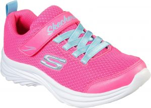 Skechers Dreamy Dancer Miss Minimalistic Sports Shoe Childrens Sports in Neon Pink/Turquoise
