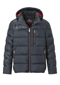 Red Point Mens Big Size Quilted Jacket (Ron) in Dark Navy
