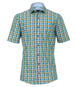 Casa Moda Premium Cotton Comfort Fit Short Sleeve Check Shirt in Size XXL to 6XL