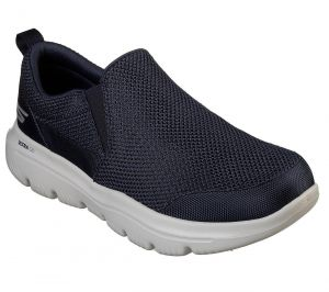 SKECHERS Men's GoWalk Evolution Ultra-Impeccable Casual Shoes/Trainers in Navy/Grey