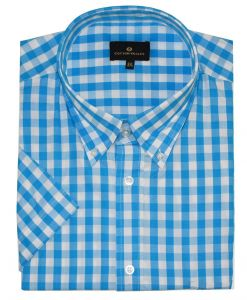 Cotton Valley Mens Pure Cotton SS Checked Shirt (14109)