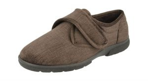 Men'S Slippers / House Shoes (Hallam)6V Wide Fit By Db Shoes in Brown
