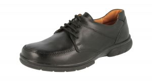 DB SHOES MENS LACE UP FORMAL LEATHER SHOES IN BLACK, (4E FIT) EXTRA WIDE