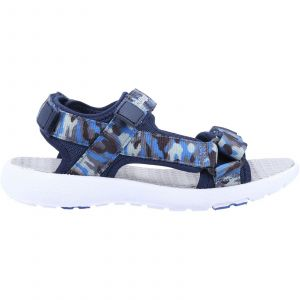 Hush Puppies Miles Quarter Strap Sandal Boys Shoes in Navy