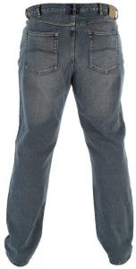 Men's Comfort Fit Distressed Wash Jeans By Rockford in Waist 30 to 60 Inches, S/R/L