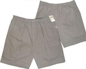 METAPHOR MENS PURE COTTON RELAXED FIT SINGLE COMBAT POCKET RUGBY SHORTS IN SIZE 2XL TO 6XL, KHAKI & DARK NAVY
